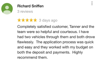 """ Completely satisfied customer """